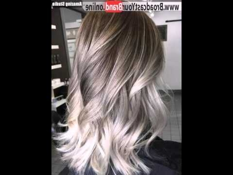 Ash Blonde Balayage – Youtube Within Feathered Ash Blonde Hairstyles (View 15 of 25)