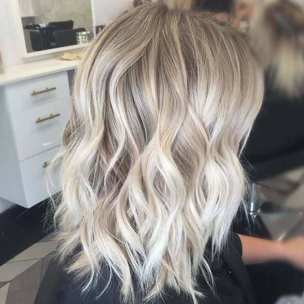 Ash Blonde Hair With Silver Highlights 2016 – Google Zoeken | Short Pertaining To Ash Blonde Lob With Subtle Waves (View 4 of 25)