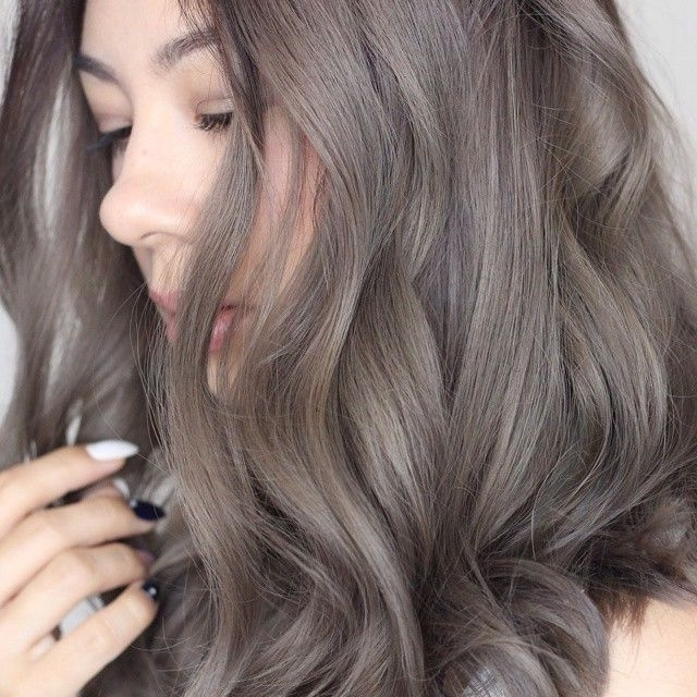 Ash Brown/grey Hair … | 17 Summer Hair Inspiration | Pinte… With Grayscale Ombre Blonde Hairstyles (Gallery 7 of 25)