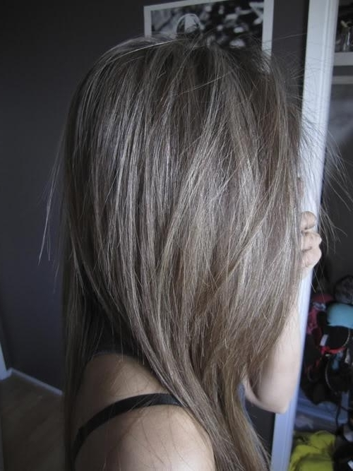 Ash Brown Hair With Platinum Highlights | Korhek | The Best Regarding Blonde Hairstyles With Platinum Babylights (Gallery 16 of 25)