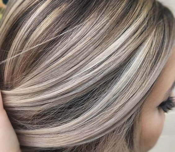 Ash Brown Hair With Platinum Highlights | Korhek | The Best Throughout Blonde Hairstyles With Platinum Babylights (Gallery 9 of 25)