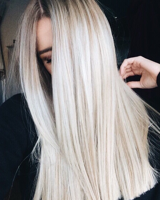 Ashy Platinum Blonde Hair Straight Hairstyles Rooty | Hair You Go Regarding Silver Blonde Straight Hairstyles (Gallery 3 of 25)
