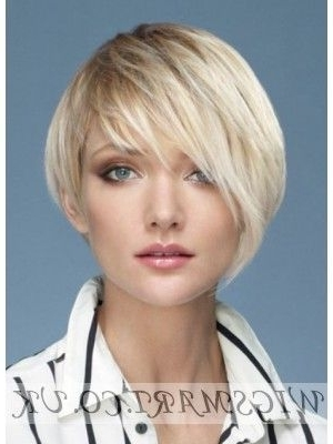 Asymmetrical Short Platinum Blonde Wig | Wigs | Pinterest | Blonde Throughout Platinum Asymmetrical Blonde Hairstyles (View 13 of 25)