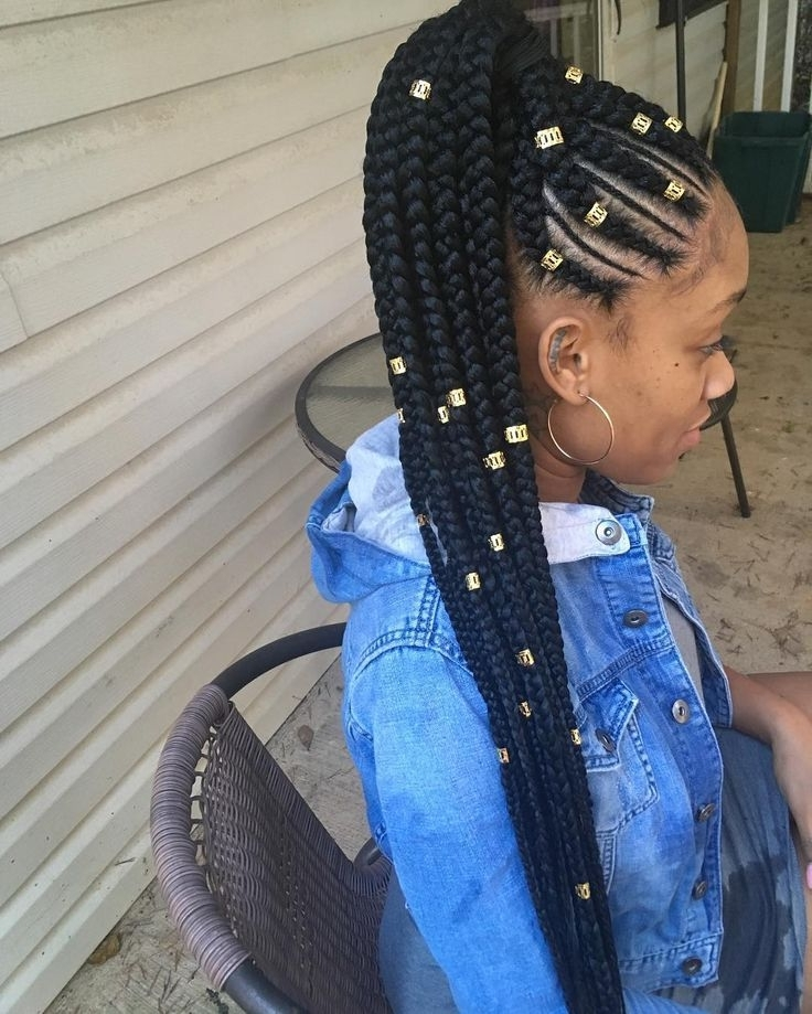 Awesome 30 Cornrow Hairstyles For Different Occasions – Get Your For Cornrows Hairstyles For Long Ponytail (View 2 of 25)