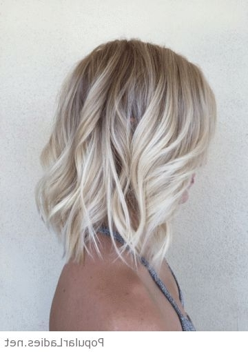 Awesome Ash Blonde Lob Bob Within Feathered Ash Blonde Hairstyles (View 17 of 25)