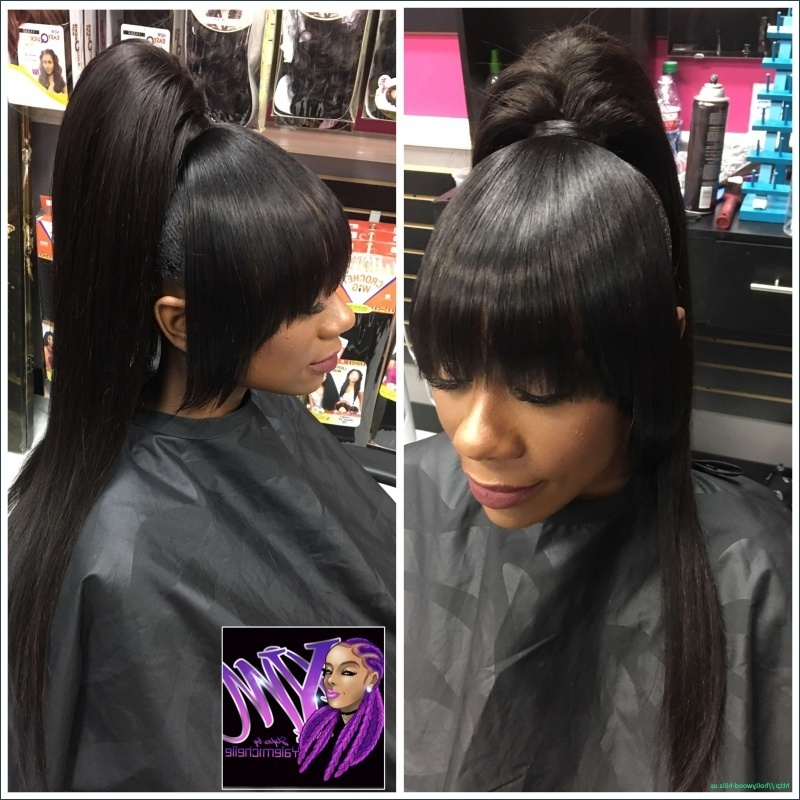 Awesome Black Hair Weave Ponytail Hairstyles | Hairstyles Ideas Intended For Weave Ponytail Hairstyles (View 7 of 25)