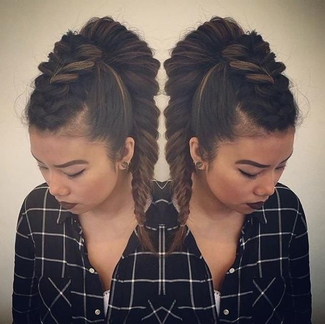 Awesome #mohawk #braid #ponytail Comboalchemy Hair Salon! | Hair With Regard To Mohawk Braid And Ponytail Hairstyles (Gallery 19 of 25)