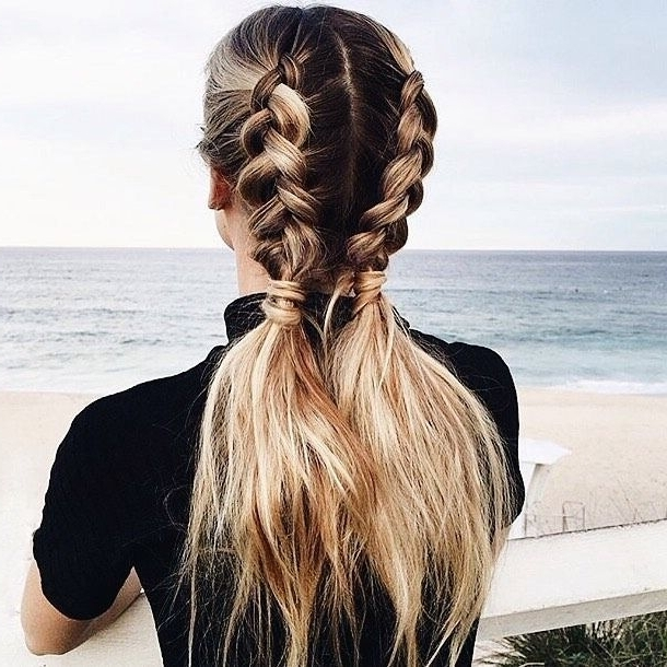 Babes On The Go Are Sure To Love This Half Braid Pony Hairstyle With Braided Millennial Pink Pony Hairstyles (View 2 of 25)