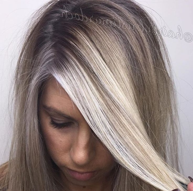 Baby Lights, Babylights, Shadow Root, Root Smudge, Balayage, Ash Throughout Dark Roots And Icy Cool Ends Blonde Hairstyles (View 15 of 25)