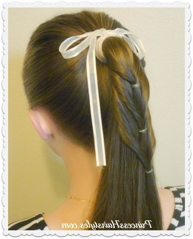 Back To School Hairstyle Ideas. Ponytail Cascade (View 10 of 25)