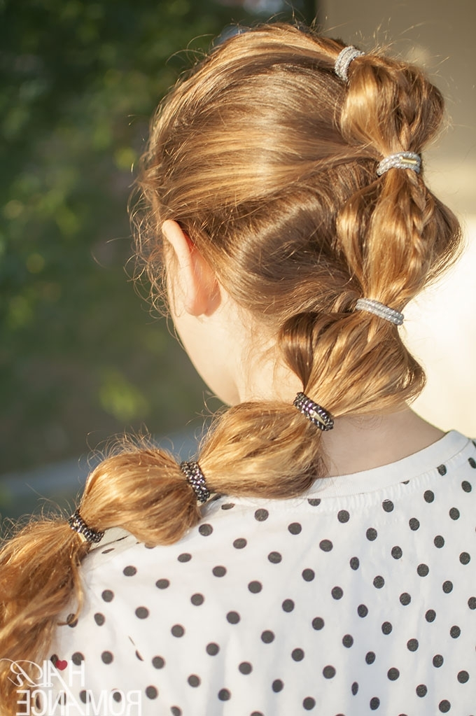 Back To School Hairstyles – The Braided Bubble Ponytail Tutorial In High Bubble Ponytail Hairstyles (View 14 of 25)