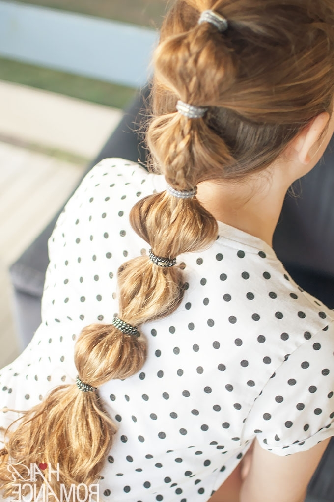 Back To School Hairstyles – The Braided Bubble Ponytail Tutorial With Regard To High Bubble Ponytail Hairstyles (View 11 of 25)