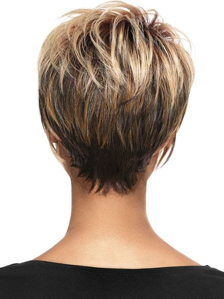 Back View Of Short Haircuts | Hair & Makeup | Pinterest | Short Intended For Newest Tapered Pixie Hairstyles With Maximum Volume (View 15 of 25)
