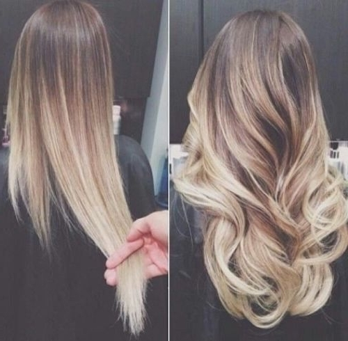 Balayage, Blonde, Brunette, Curles, Hair, Hairstyles, Long, Ombre Regarding Blonde And Brunette Hairstyles (View 13 of 25)