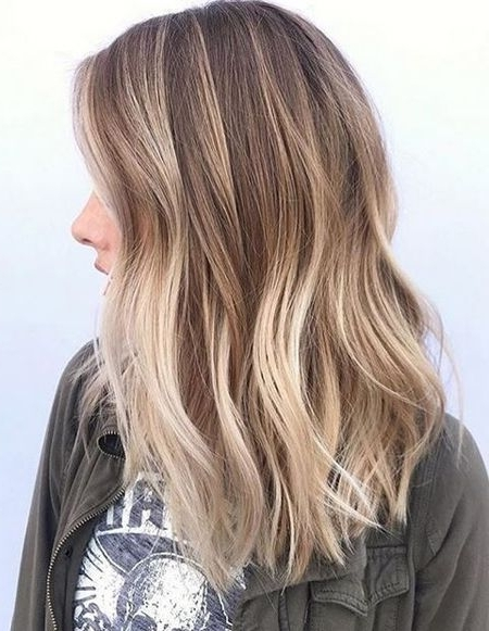 Balayage Color Ideas For Spring 2018 Medium Hairstyles | State Of Inside Multi Tonal Mid Length Blonde Hairstyles (View 21 of 25)