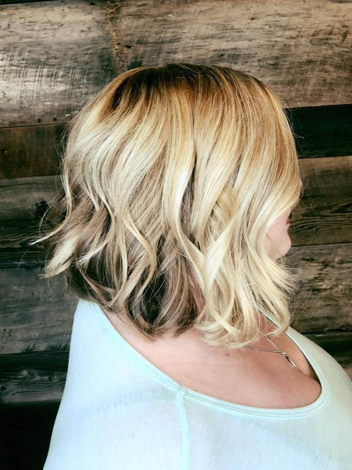 Balayage Hair Salon Lob Angled Bod Contrast Blonde Smudged Root Flat Within Icy Waves And Angled Blonde Hairstyles (View 19 of 25)