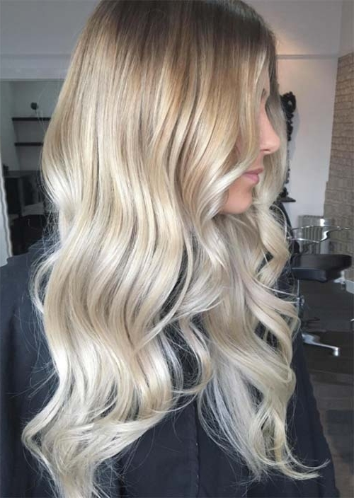 Balayage Hair Trend: 51 Balayage Hair Colors & Highlights – Glowsly Throughout Golden Blonde Balayage Hairstyles (View 15 of 25)