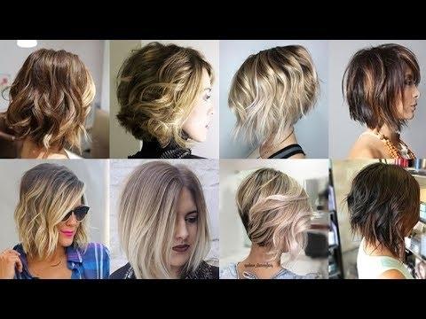 Balayage Ombre Short Hair 2018 Bob Haircuts 2019 – Youtube Inside Cute Blonde Bob With Short Bangs (View 10 of 25)