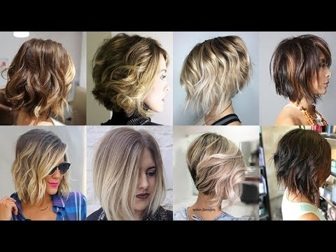 Balayage Ombre Short Hair 2018 Bob Haircuts 2019 – Youtube Throughout Current Reverse Gray Ombre Pixie Hairstyles For Short Hair (View 9 of 25)