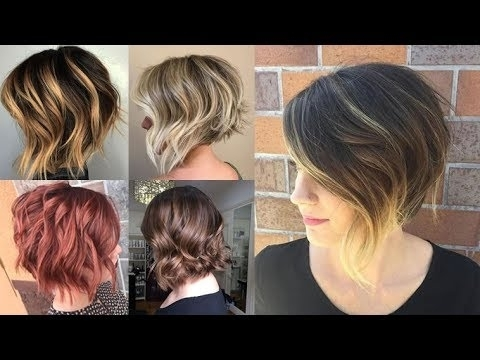 Balayage Short Bob Highlights & Hair Colors On Short Hair – Youtube In Current Disconnected Blonde Balayage Pixie Hairstyles (View 23 of 25)