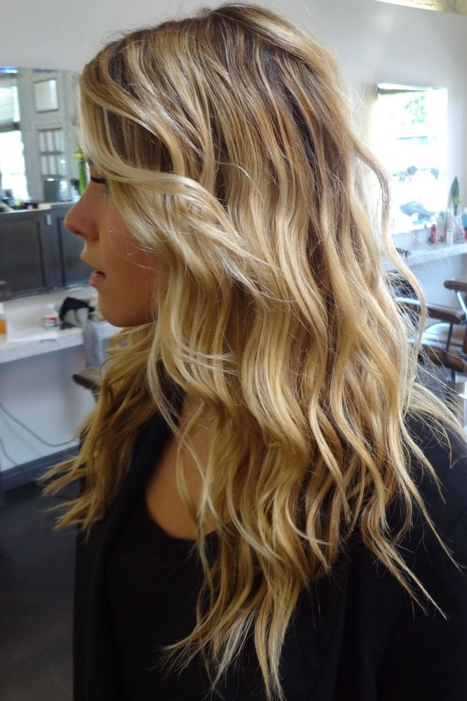 Beach Blonde Highlights | Hair | Pinterest | Beachy Waves, Hair With Beachy Waves Hairstyles With Blonde Highlights (View 8 of 25)