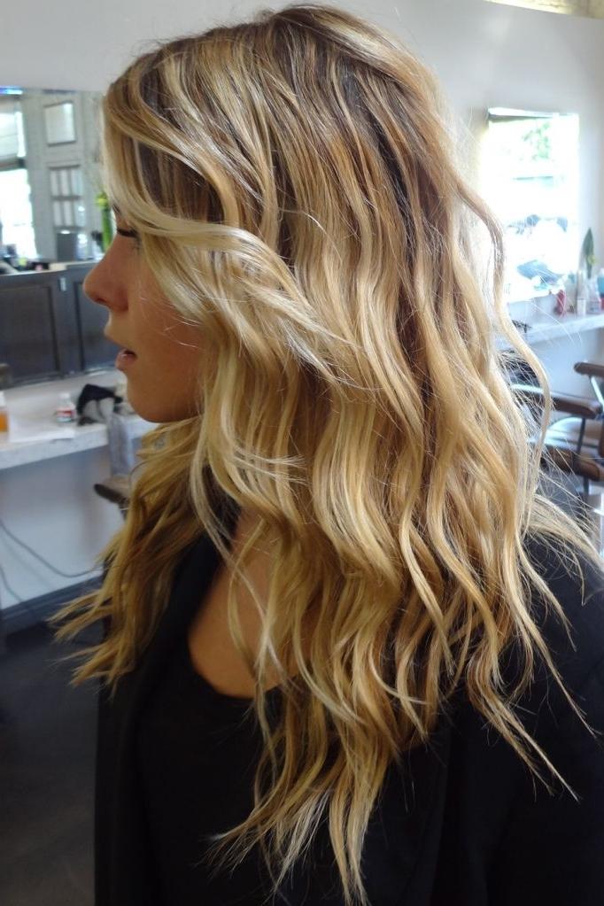 Beach Blonde Highlights | Hair | Pinterest | Beachy Waves, Hair With Beachy Waves Hairstyles With Blonde Highlights (View 18 of 25)