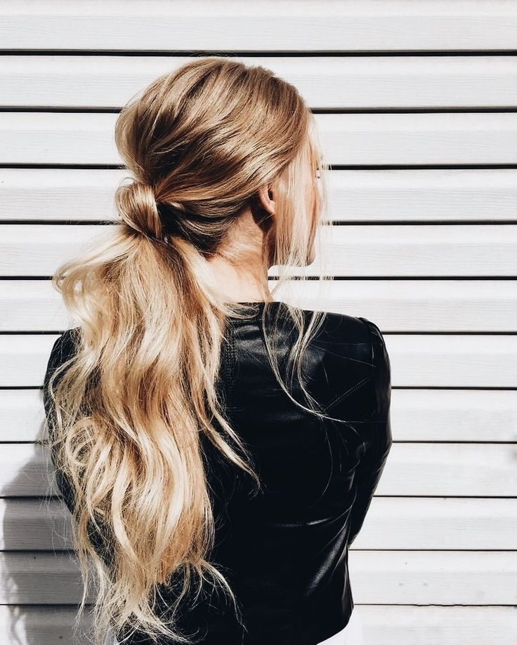 Beach Wave Ponytail #hairstyle #styleblogger #everydayhairstyleslong Inside Messy Waves Ponytail Hairstyles (View 12 of 25)