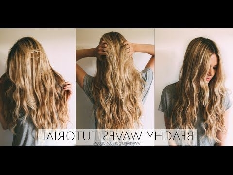 Beachy Waves Tutorial Barefoot Blondeamber Fillerup Clark With Amber Waves Blonde Hairstyles (View 16 of 25)