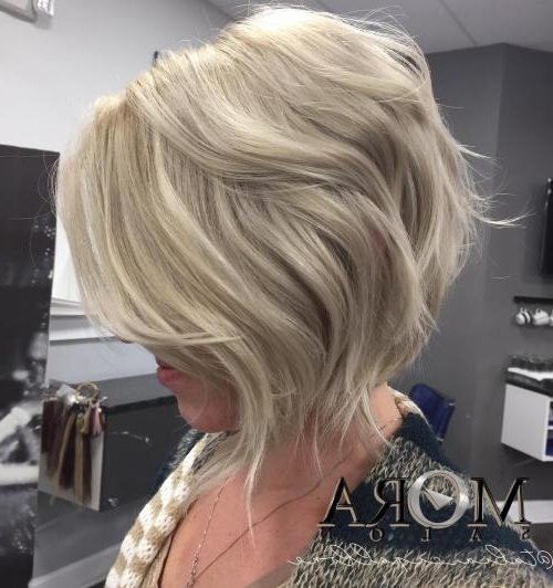 Beautiful And Convenient Medium Bob Hairstyles – Page 36 Of 40 With Regard To Curly Angled Blonde Bob Hairstyles (View 10 of 25)