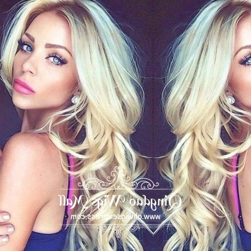 Beautiful Beach Waves Super Light Blonde Sombre Long Layered Throughout Blonde Ponytail Hairstyles With Beach Waves (View 17 of 25)
