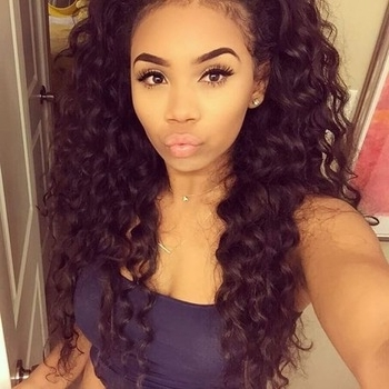 Beautiful Black Kinky Curly Ponytail Hairpieces Clip In Virgin Hair With Ombre Curly Ponytail Hairstyles (View 22 of 25)