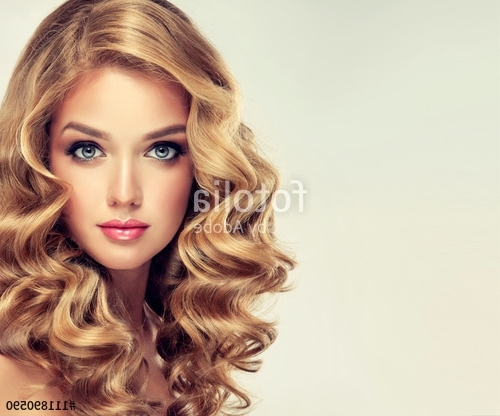 Beautiful Girl Blonde Hair With An Elegant Hairstyle , Hair Wave In Amber Waves Blonde Hairstyles (View 17 of 25)