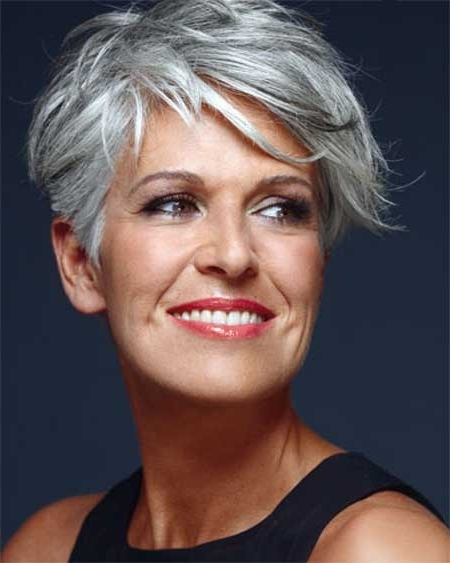 Beautiful Gray Hair Cuts – Hair World Magazine Throughout Most Up To Date Choppy Gray Pixie Hairstyles (View 8 of 25)