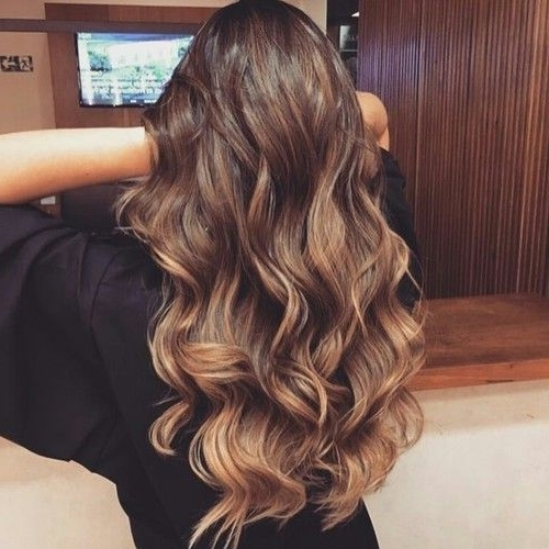 Beautiful Long Brown Hair, Chocolate Brown, Caramel Low Light Pertaining To Light Chocolate And Vanilla Blonde Hairstyles (View 12 of 25)