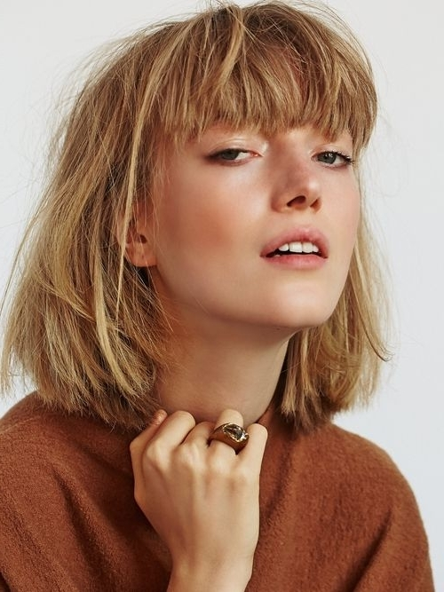 Beautiful Short Bob Hairstyles And Haircuts With Bangs   Female For Cute Blonde Bob With Short Bangs (View 22 of 25)