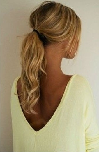 Beauty, Fashion, Makeup And How To Articles – Chelsea Crockett Intended For Messy Low Ponytail Hairstyles (View 14 of 25)