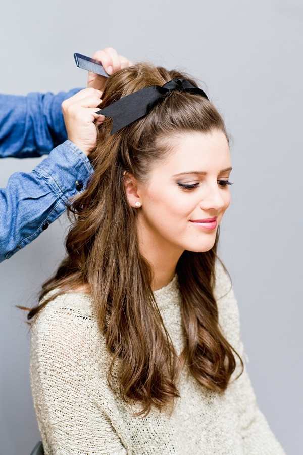 Beauty Note: Brigitte Bardot Inspired Holiday Hair – Lauren Conrad Intended For Big And Bouncy Half Ponytail Hairstyles (View 5 of 25)