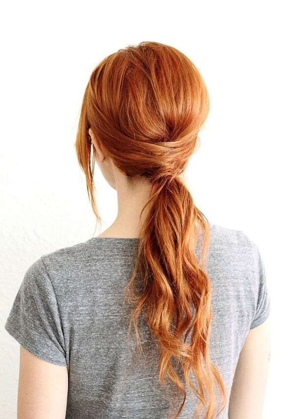 Beauty Note: Warm Weather Hairstyles | Pinterest | Pony, Hair Style Throughout Low Hanging Ponytail Hairstyles (View 2 of 25)