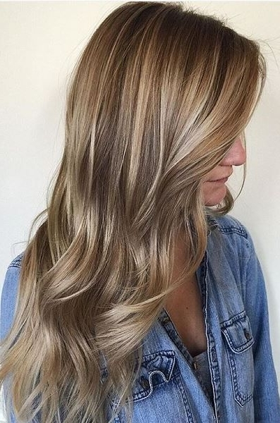 Beige Balayage Highlights – Natural And Beautiful Hair Color Idea Throughout Beige Balayage For Light Brown Hair (View 4 of 25)