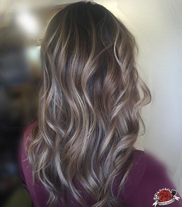 Beige Balayage On Brunette Hair Highlights On Brown Hair (View 2 of 25)