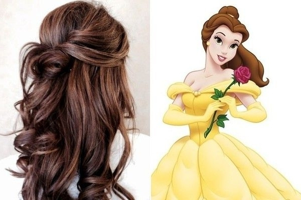 Belle, 'beauty And The Beast' | Hairstyle Ideas | Pinterest | Beast In Princess Like Ponytail Hairstyles For Long Thick Hair (View 7 of 25)