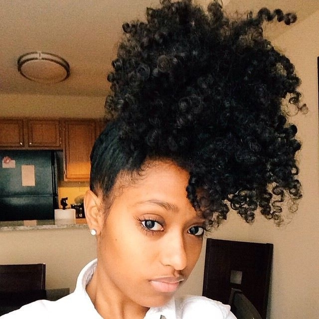 Best 300+ Naturals Images On Pinterest   Natural Hair, Protective With Curly Blonde Afro Puff Ponytail Hairstyles (View 24 of 25)