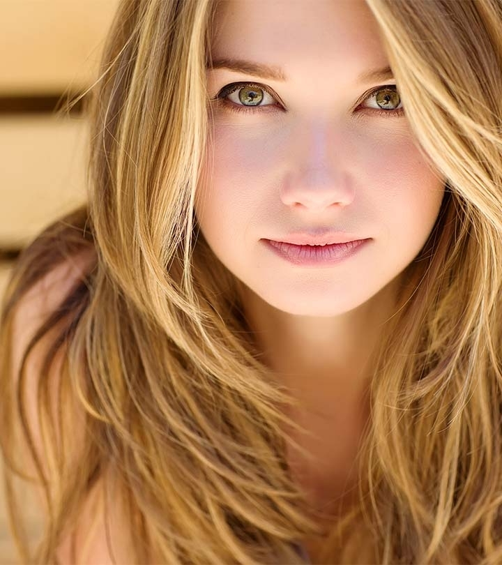 Best Hair Color For Hazel Eyes With Different Skin Tones In Amber And Gold Blonde Hairstyles (View 21 of 25)