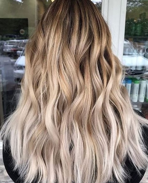 Best Hair Color Ideas 2017 / 2018 Creamy Blonde Color Melt Intended For Blonde Color Melt Hairstyles (View 15 of 25)