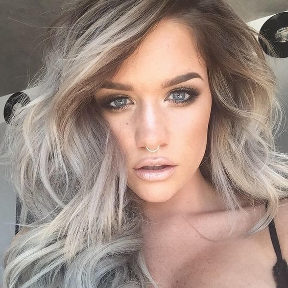 Best Hair Colors For Fair Skin: 35 Examples Not To Miss – Belletag Inside Pale Blonde Balayage Hairstyles (View 13 of 25)