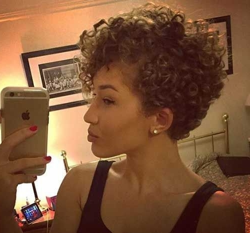 Best Hairstyle For Overweight Face | Pixie Hairstyles Medium Within Most Recently Short Black Pixie Hairstyles For Curly Hair (View 18 of 25)