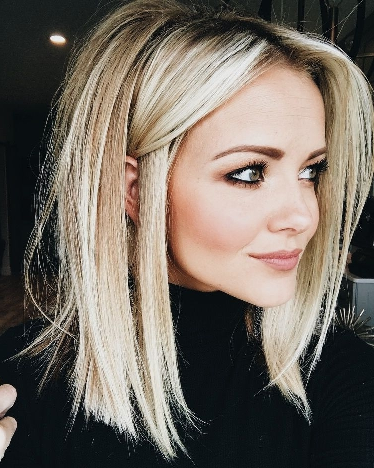 Best Hairstyle For Thin Curly Hair | Beauty Bucket List | Pinterest With Blunt Cut White Gold Lob Blonde Hairstyles (View 13 of 25)
