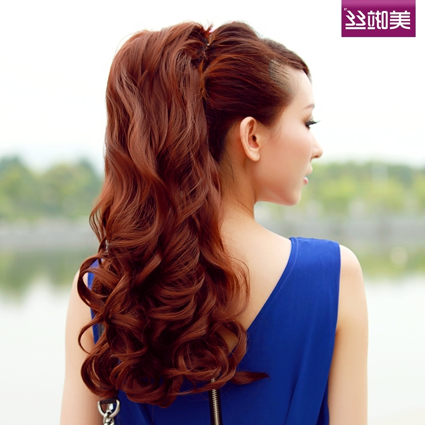 Best Long Weave Ponytail Hair Styles For Girls – Hairzstyle Inside Voluminous Pony Hairstyles For Wavy Hair (View 22 of 25)