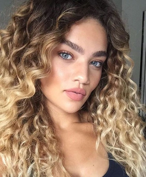 Best Ombre Hairstyles – Blonde, Red, Black And Brown Hair | Love Ambie Inside Brown To Blonde Ombre Curls Hairstyles (View 11 of 25)