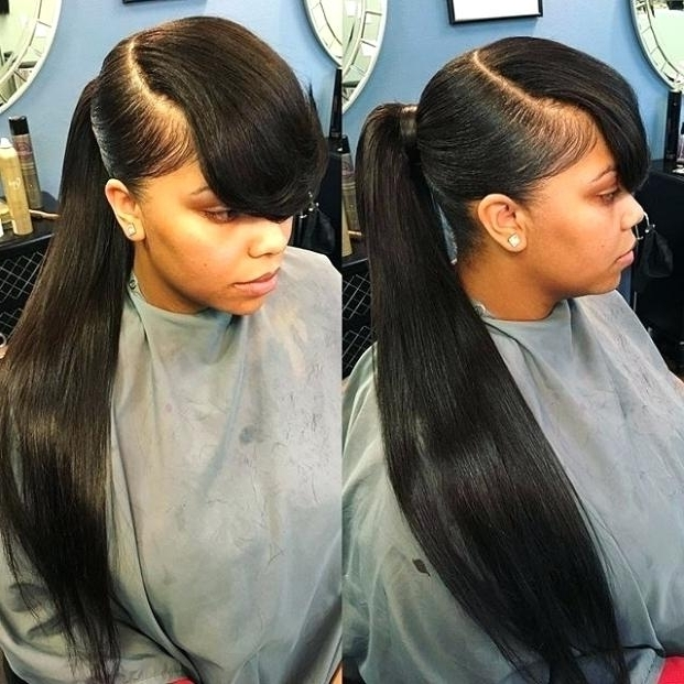 Best Weave Best Weave Ponytail With Bangs Hairstyles Weave Shop Inside Weave Ponytail Hairstyles (View 12 of 25)